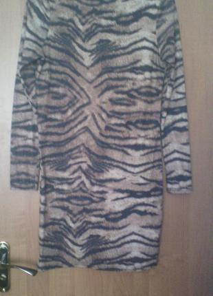 Платье тигровый принт