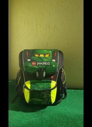 Шкільний ортопедичний рюкзак портфель lego ninjago оригінал ніндзяго каркасний тверде дно