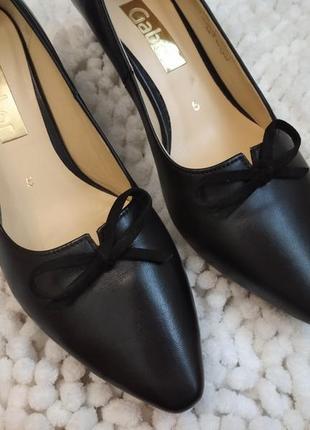 Мега удобные кожаные туфли 38р gabor