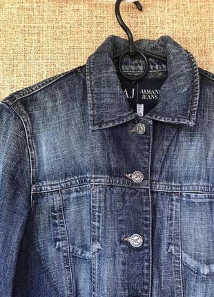 Джинсовый жакет armani jeans