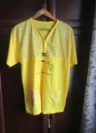Нарядная футболка - блуза 50 размера