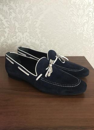 Туфли лоферы натуральная кожа- замшевые avvenente