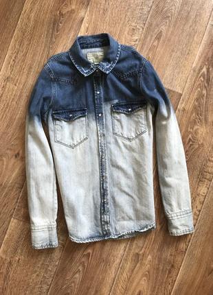 Джинсова сорочка pull&bear/джынсовая рубашка