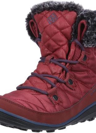 Размер 37,5-38. ботинки columbia heavenly shorty camo. -32 с. зимние.