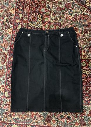 Спідниця чорна джинсова