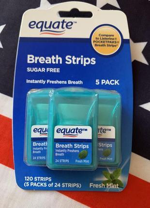 Американские мятные полоски для дыхания equate 5 шт. в упаковке,оригинал
