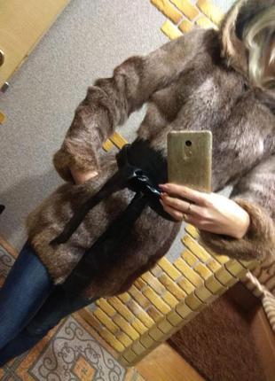 Шуба женская русский мех из нутрии