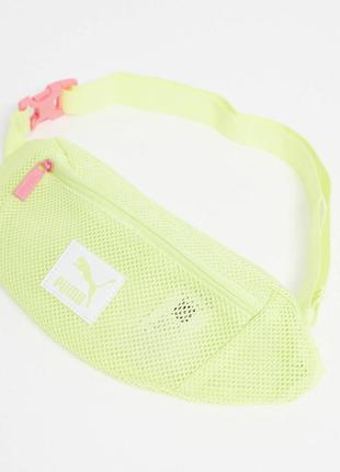 Неоновая зелёная бананка/поясная сумка