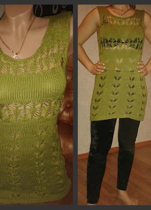 Вязаное платье сарафан туника крючком бренд korucu