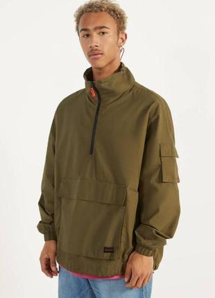 Мужской хлопковый анорак куртка етровка кофта bershka