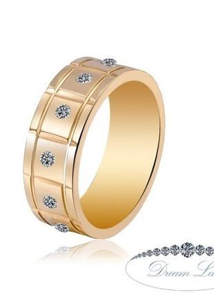 Кольцо с позолотой из нержавеющей медицинской стали «фриланс» (в нал. 19.0)