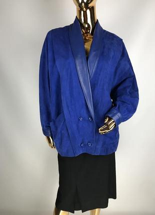Винтаж 80-х! замшевая куртка с кожаными вставками