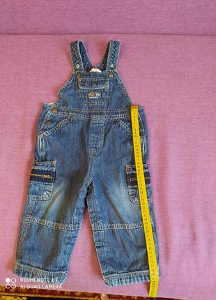 Джинсовый комбинезон комбез на мальчика 1-2 года джинсовий комбінезон на хлопчика 1-2 роки