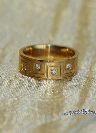 Кольцо с позолотой из нержавеющей медицинской стали «indonesia» (в нал. 19.0 21.0)