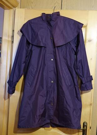 Фирменный непромокаемый плащ фиолетового цвета target dry waterproof англия 14 р.