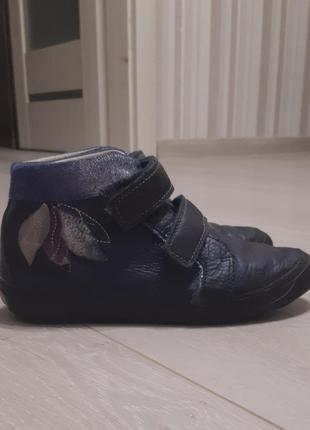 Кожаные ботинки для девочки  d.d.step