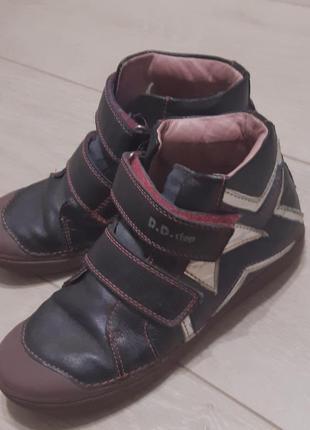 Ботинки кожаные демисезон для девочки d.d. step