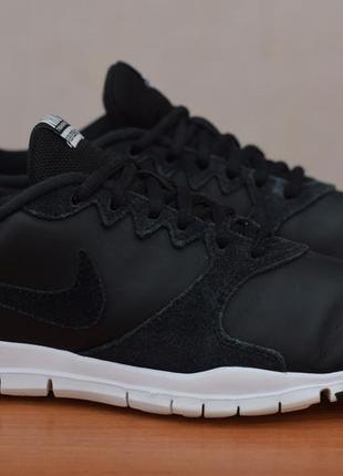 Черные кожаные кроссовки nike flex essential tr, 37.5 размер. оригинал
