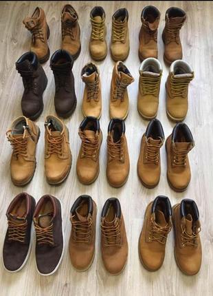 Timberland рыжие желтые стильные актуальные ботинки тренд любого сезона