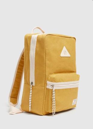 Брендовый желтый рюкзак пул бир pull&bear италия, новинка!
