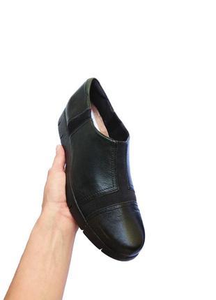Кожаные женские туфли clarks