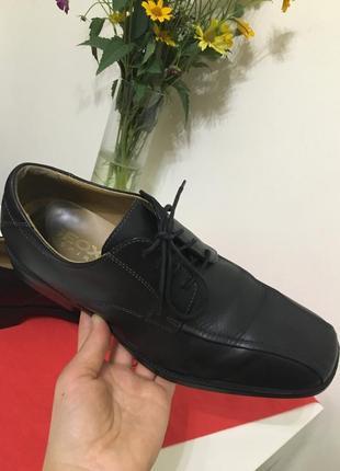 Кожаные туфли geox respira 41 42 стелька 27см
