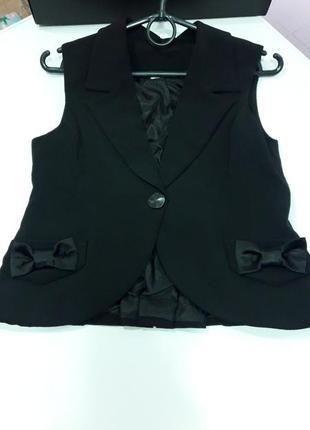 Школьная форма костюм жилетка для девочки