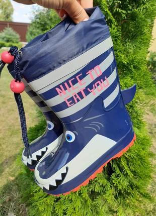 Резинові чобітки з утепленням