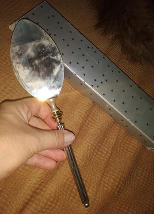Лопатка для торта срібло золото