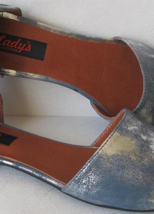 Стильные! лодочки lady's разделенки туфли! натуральная кожа деленки