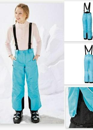 Термо лыжные штаны crivit  146-152см  полномерят  германия