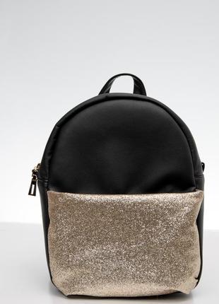 Черный рюкзак с блестками для подростка