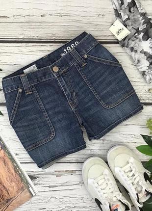 Джинсовые шорты с накладными карманами  pn1834061  gap