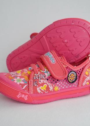 Детские кеды тапочки мокасины для девочки super gear розовый