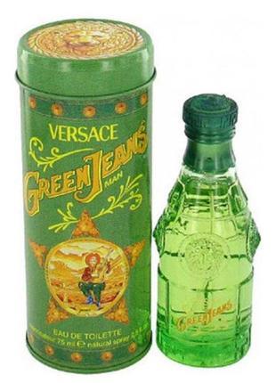Туалетная вода green jeans versace чистый и свежий древесный аромат