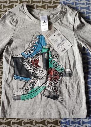 Новый фирменный реглан, лонгслив, футболка с длинным рукавом в сад