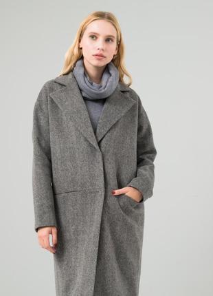 Осенние пальто серого цвета, xs-s
