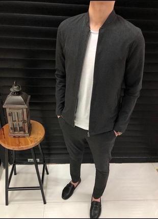 Костюм, костюм прогулочный, брюки и кофта