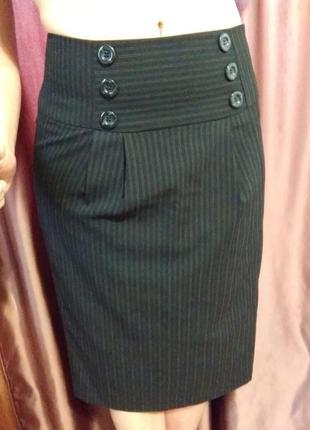Классическая офисная прямая строгая юбка карандаш груша