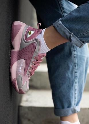 Nike zoom 2k pink женские кроссовки наложка