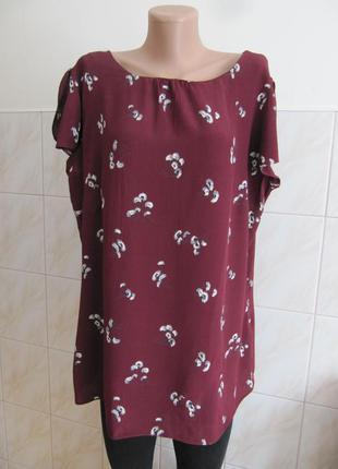Красивая блуза актуального цвета марсала от f&f