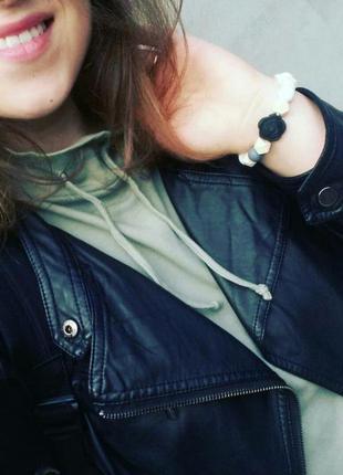 """Ультрамодный трехцветный браслет """"black flo"""""""
