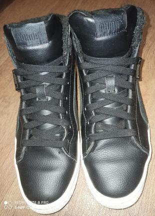Кожаные ботинки на меху.