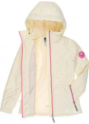Великолепная демисезонная куртка lenne milla 18269 100 молочная 140р