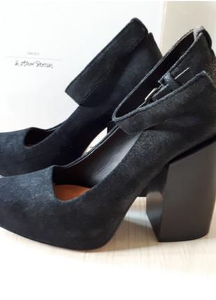 Туфли кожаные,замшевые новые,мюли,на масивном каблуке & other stories