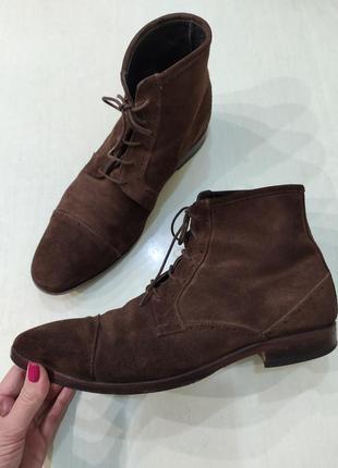Vero cuoio мужские замшевые демисезонные ботинки оксфорды