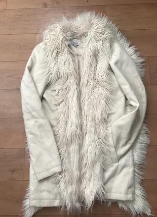 Стильное пальто пиджак с ламой zebra