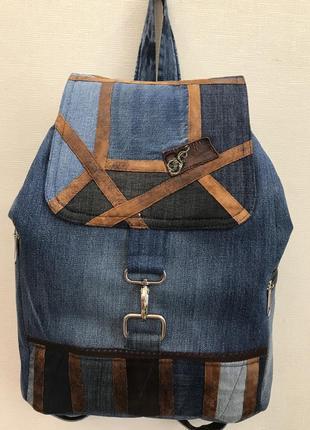 Рюкзак джинс handmade