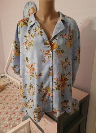 Натуральная штапельная блуза от бренда xlnt пог-76