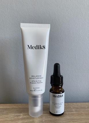 Balance moisturizer with glycolic activator medik8 матирующий крем с пробиотиками .